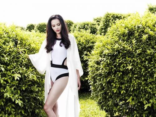 45 2 - Hoa hậu Diệu Linh khoe vẻ sexy với bikini một mảnh