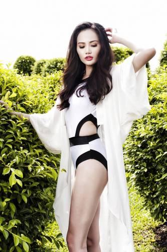 52 1 - Hoa hậu Diệu Linh khoe vẻ sexy với bikini một mảnh