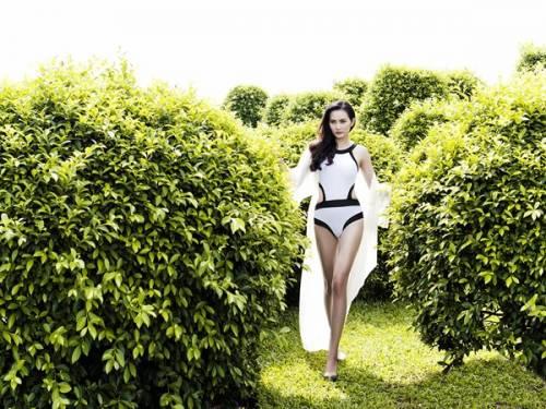 64 7 - Hoa hậu Diệu Linh khoe vẻ sexy với bikini một mảnh