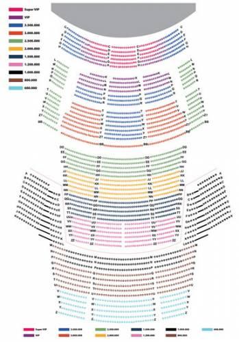 Sơ đồ các khu vực và giá vé của đêm nhạc Kenny G.