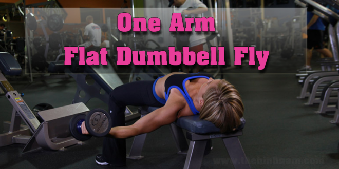 One-Arm-Flat-Dumbbell-Fly