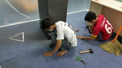 06 - Thi công lắp dặt thảm
