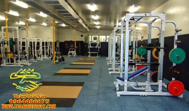 tham - Thảm trải sàn phòng gym- Thảm cao su gạch - giá rẻ