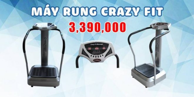 rung fit 165385c6 c4f1 4701 604a 79f0e410a888 660x330 - MÁY RUNG CRAZY FITGiá : 3.190.000 VND