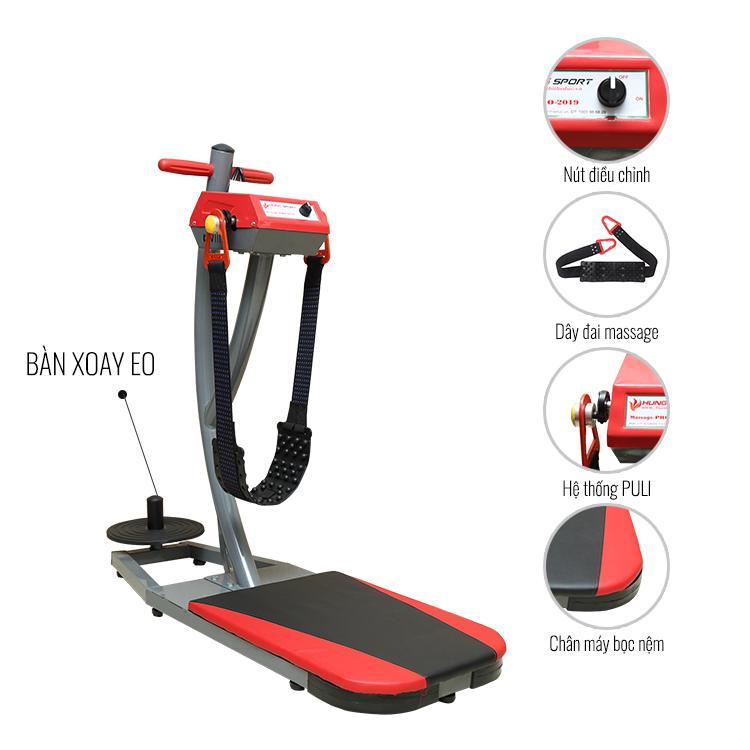 máy rung gym - MÁY MASSAGE BỤNG ĐỨNG M150 NEW + XOAY EO( MX-2021)Giá : 3.680.000 VND